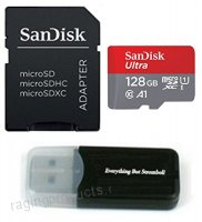 SanDisk 128GB Ultra UHS-I Class 10 Micro SDXC Memory Card for Motorola Moto X4 G5S Plus G5S Z2 Force Edition E4 Plus Z2 Play G5 Plus Cell Phones with Everything but Stromboli (TM) Card Reader - B079C5CS5B